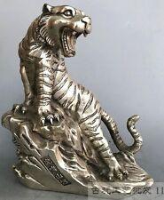 Collection of Tibetan silver handmade ferocious tiger