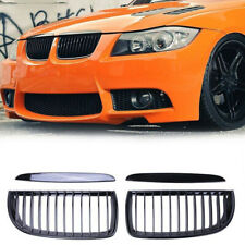 Gloss Black Front Kidney Grill Grille For BMW 3 Series E90 E91 320d 325i 2005-08