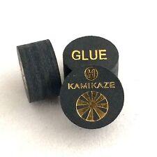 Kamikaze Black Layered Cue Tips  14 MM  (Hard) (2 Tips)  Fast Shipping....