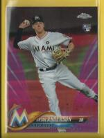 Brian Anderson RC  2018 Topps Chrome PINK Refractors Rookie Card Miami Marlins