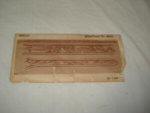 Craftaid Belt Kit #2631 Leather 1953 Templates