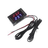NTC-Messfühler mit Dual-Display-Thermometer Rot + Blau für Temperatursensoren