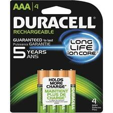 4/pack Duracell AAA Rechargeable Batteries AAA4 1.2V NiMH  DX2400-- 400 Charges!