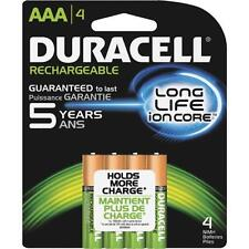 Duracell AAA Rechargeable Batteries AAA 4 Pack 1.2V NiMH EXP 2021 DX2400 *NEW*