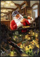 Santas Train Testing - Charts Counted Cross Stitch Patterns Needlework Christmas