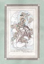 MADONNA COL BAMBINO S. MARIA ORGANO VERONA - FARINATI Incisione Originale 1800