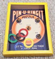 """Vintage """"Pin-U-ringit de"""" destreza Juego de puzzle-R. Journet"""