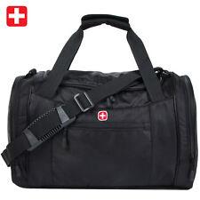 Swiss Gear Terylene Black Tote Luggage Bag Travel Bag Duffle Gym Messenger Bag