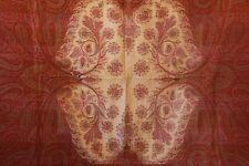 Antique Victorian Wool Paisley Shawl 19th Century