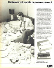 Publicité Advertising 097  1983  3M    terminal portable Whisper Writer