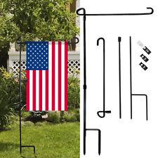 Yard Flag Stand Pole Holder Garden Flag Banner Bracket Decor Prop Weather-Proof