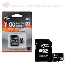 MICRO SD TEAM Flash card Micro-SD 16GB C4 + ADATTATORE SD CARD TUSDH16GCL403