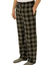 Fruit of the Loom Fleece Sleep Pants Pjs Black White Plaid Men's Big 4XL 52-54