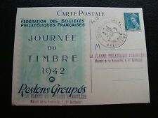 FRANCE - carte 1er jour 19/4/1942 (journee du timbre) (cy69) french
