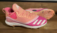 New Adidas Icon V Bounce Metal Baseball Cleats Pink FW5543 Men's SIZE 11
