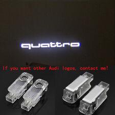 Audi 2X LED Light Quattro Logo Projector Emblem Ghost Shadow Door Welcome Light