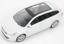 """Peugeot 308SW Estate Model Car 3"""" New Genuine White 13MITR904"""