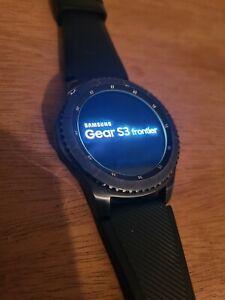 Samsung Gear S3 Frontier 46mm Stainless Steel Case Dark Gray Sport Band...