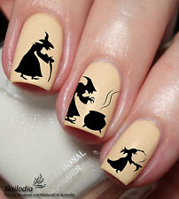 Halloween Witch Nail Art Sticker Water Transfer Decal Tattoo 152