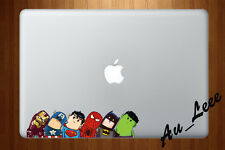 Macbook Air Pro Skin Sticker Decal Cute Super Hero Avenge Iron Head CMAC054