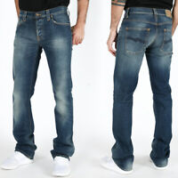 Nudie Herren Slim Fit Bootcut Stretch Jeans | Barry Organic Strikey | w27, w29