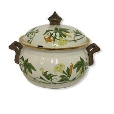 Vtg Asta Trumpet Squash Germany Enamel Dutch Oven Cookware 2Qt 7� Pot W Lid