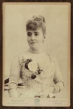 La cantatrice Adelina Patti, Opéra, Singer, Photo Cabinet card, Wallery London