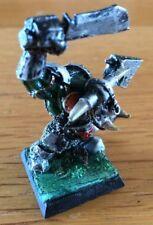 Citadel GW di metallo PRO dipinto in miniatura del Caos Nero Orc GUERRIERO FUORI CATALOGO RARO
