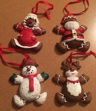 4 House Of Lloyd Christmas Ornaments: Mrs. Claus and Santa, Reindeer, Snowman