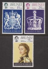 QEII 1977 Silver Jubilee MNH Stamp Set Brunei SG 264-266