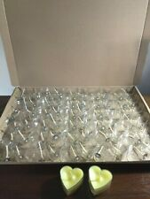 60 X New Poly carbonate Tealight Cups Heart shaped with Pre Wax wick holders