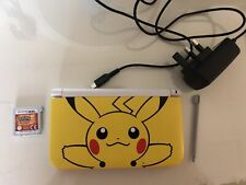 Nintendo 3DS XL Pikachu Yellow Special Edition - With Pokemon Sun Game Cartridge