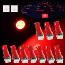 10Pcs Red T5 73 74 2721 LED Intrument Dash Indicator Light Bulbs Interior lamps