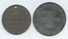France Pair of Trade Tokens (#1361) Carefully Check out the Photos.