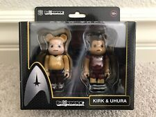 Kirk & Uhura Bearbrick 2010 2x Star Trek Be@rbrick Action Figure Japan Import