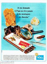 PUBLICITE ADVERTISING  016  1967  Poulain chocolat fondant aux amandes Belga
