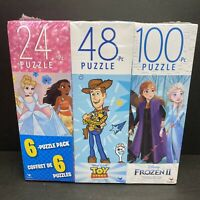 Disney Princess Toy Story Frozen 2 Mickey Jigsaw Puzzle 6 PACK FAST SHIPPING NEW