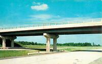 Postcard Indiana Toll Road, Howe, LaGrange, Middlebury