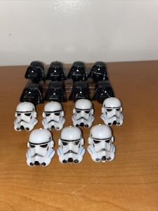 15 Star Wars Darth Vader & Storm Troopers Cupcake Toppers Party Ring Cake Topper