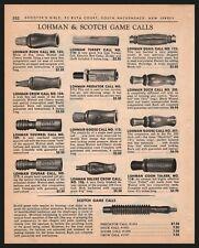 1966 LOHMAN and SCOTCH Game Calls PRINT AD Duck Goose Squirrel 13 calls shown