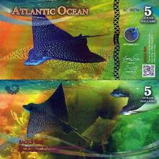 ATLANTIC OCEAN - 5 ocean dollars 2017 FDS UNC