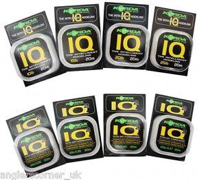 Korda Iq & IQ2 Flurocarbon Angelschnur 20m/4.5kg, 5.4kg, 6.8kg, 9.1kg, 11.3kg
