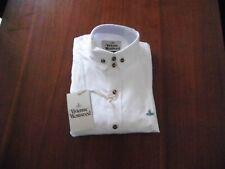 DOUBLE TWO Camicia in cotone colletto senza ferro Scuola Lavoro Manica Lunga Bianco 14.5 15.5