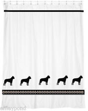 American Staffordshire Terrier Dog White or Cream Shower Curtain Color choices
