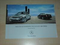47176) Mercedes CLK Sport Edition Preise & Extras Prospekt 04/2007