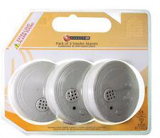 Detectores de humo ultra alarma de incendio con baterías de ionización 3X! (threel Alarmas)