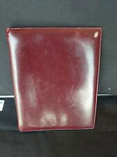Vintage Jean Jacques Creation Stitched Supple Leather Krause Ring Binder...