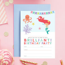 MERMAID BIRTHDAY PARTY INVITATIONS INVITES CHILDRENS GIRLS  Little Mermaid Party