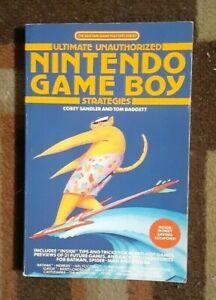 Ultimate Unauthorized Nintendo Game Boy Strategies Strateg Guide 1990