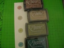 4 ENCORE ULTIMATE METALLIC INK PADS - 4 DIFFERENT COLORS